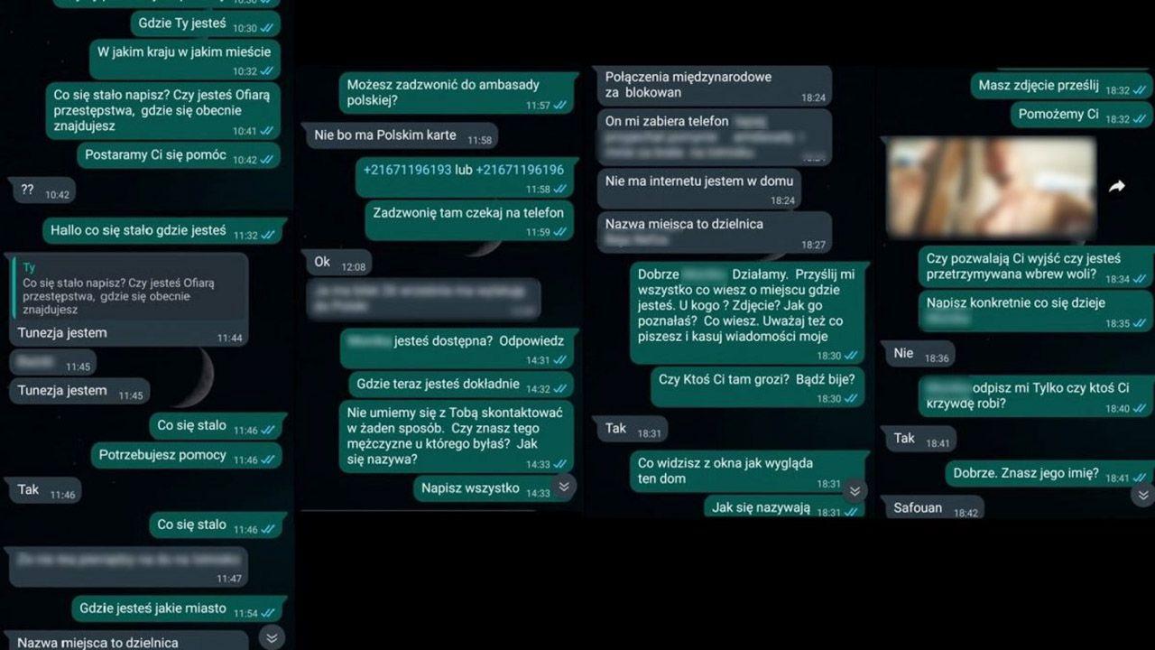 38-latka w zeszłym tygodniu skontaktowała się ze śledczym i w wiadomości na telefonie prosiła o pomoc (fot. Policja śląska)