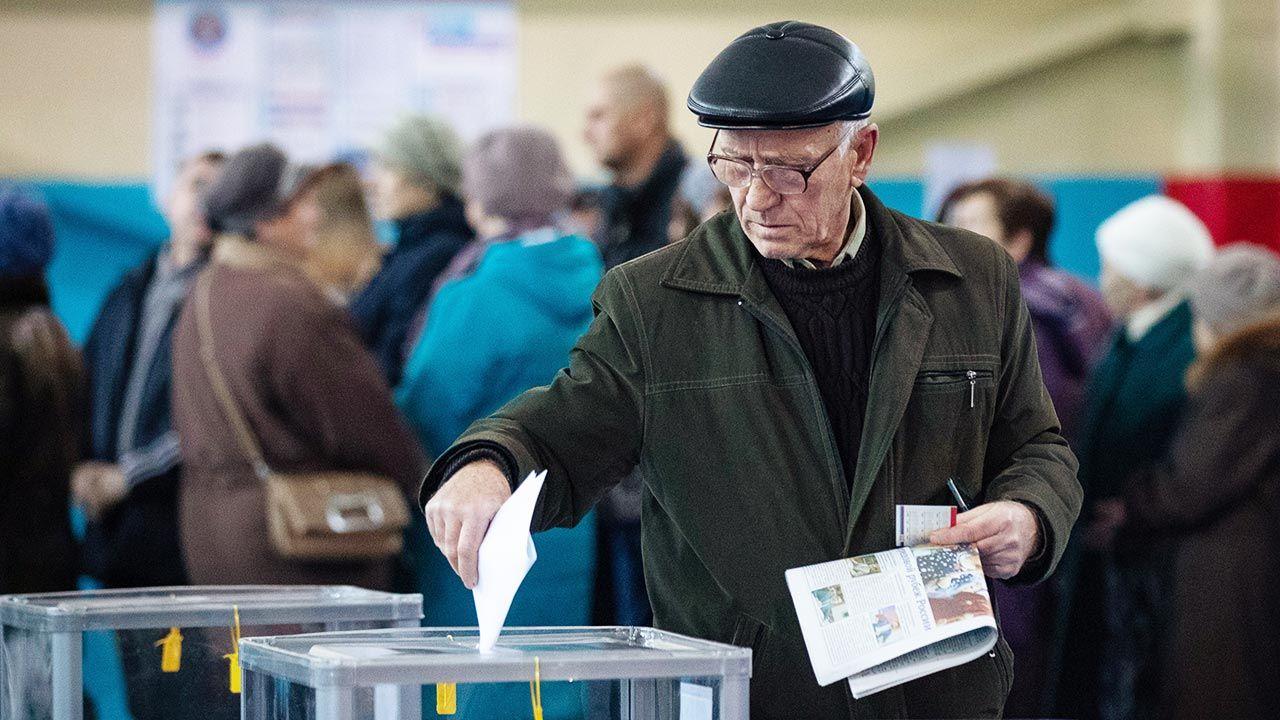 W Rosji w piątek rozpoczęło się głosowanie przedterminowe w wyborach do izby niższej parlamentu (fot. Stanislav Krasilnikov\TASS via Getty Images)