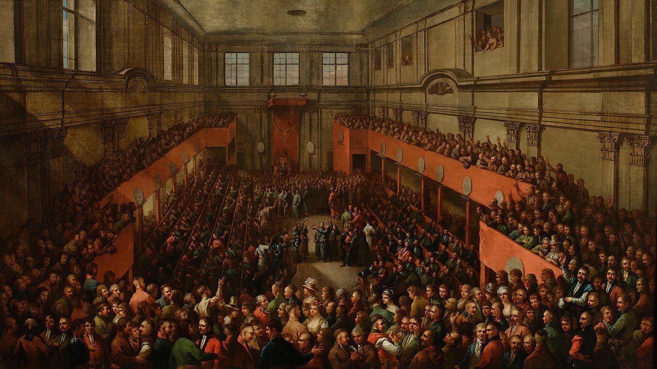 230 lat temu Polacy witali uchwałę Sejmu Wielkiego ustanawiającą Konstytucję (fot. Muzeum Narodowe)