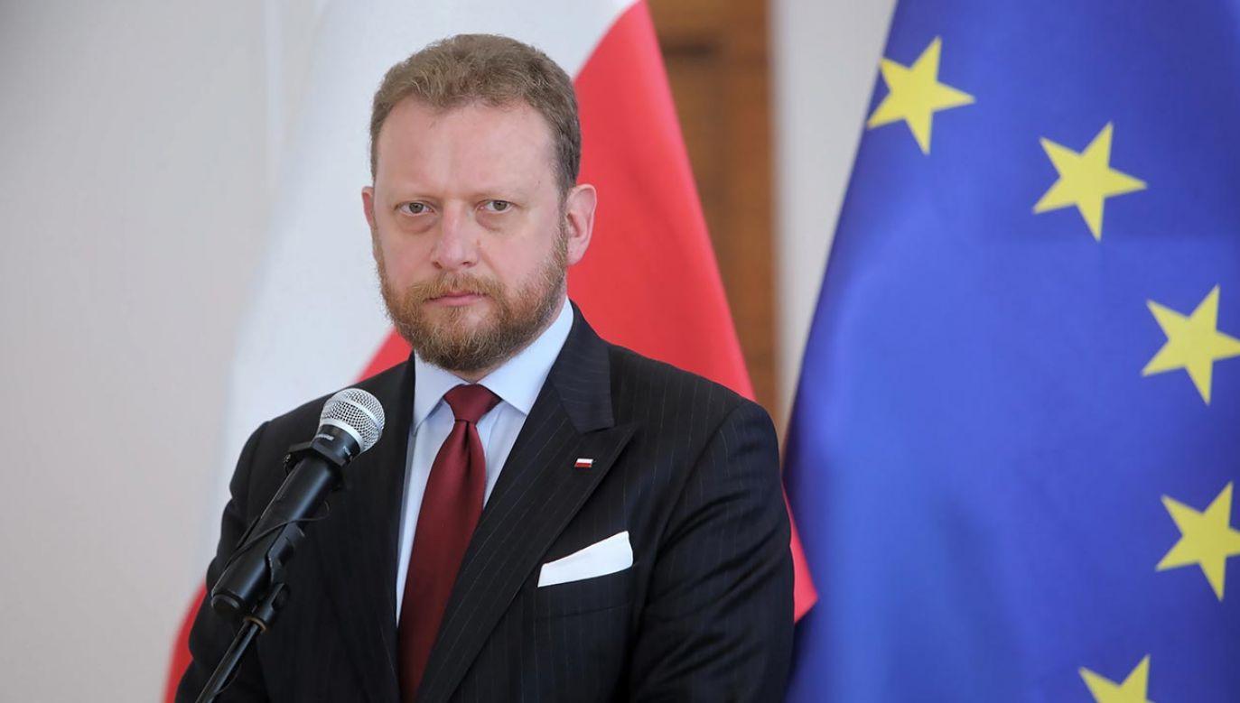 Minister zdrowia Łukasz Szumowski (fot. PAP/Wojciech Olkuśnik)
