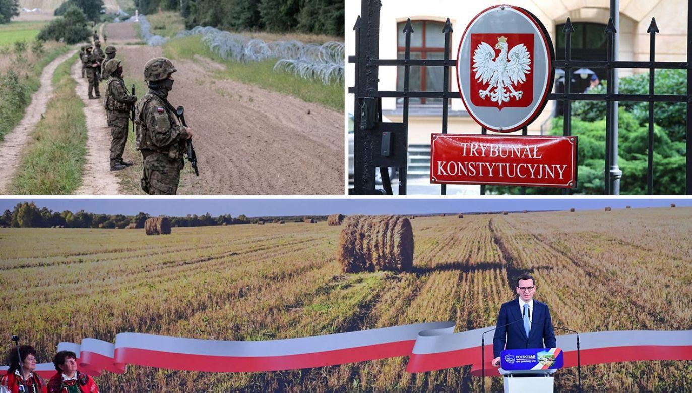 Co wydarzyło się w ostatnich dniach w polityce? (fot. Maciej Moskwa/NurPhoto via Getty Images; PAP/Tomasz Gzell, Piotr Polak)