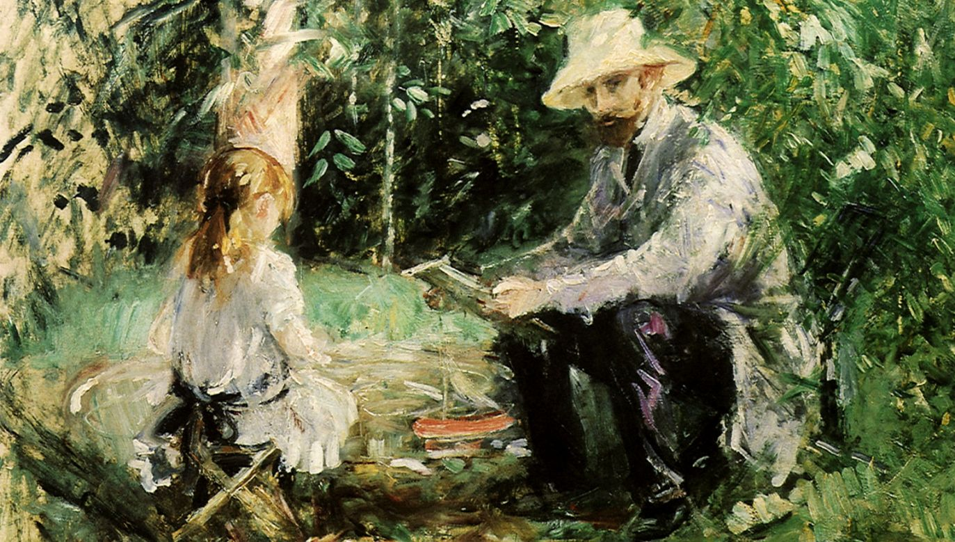 "Z mężczyzn Berthe Morisot portretowała jedynie własnego małżonka. ""Eugène Manet z córką w ogrodzie"". Fot. Picturenow/Universal Images Group via Getty Images"