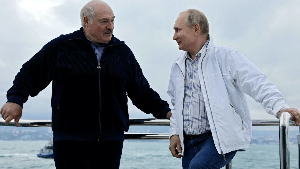 Porozumienie Białorusi i Rosji ws. działań przeciwko Zachodowi (fot. PAP/EPA/SERGEI ILYIN/SPUTNIK/KREMLIN)
