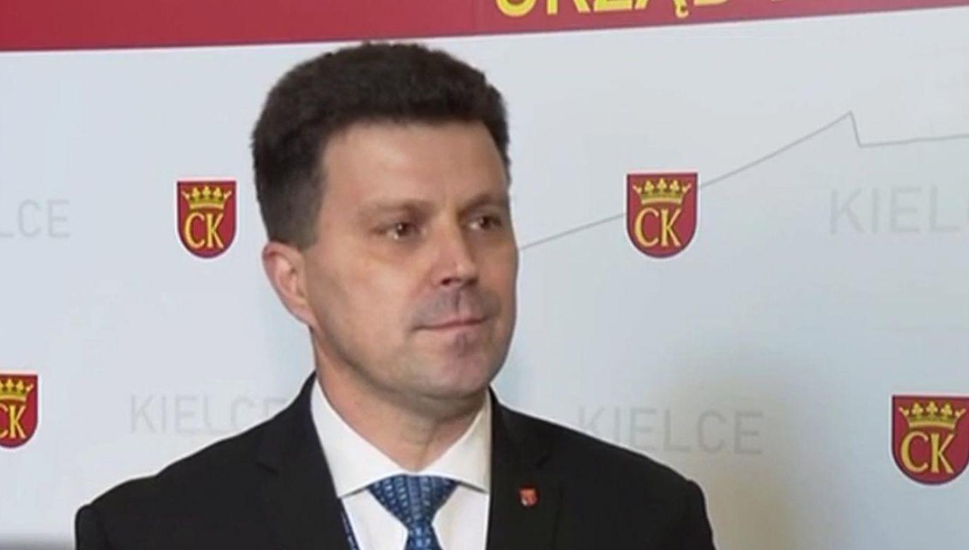 Szczepan Skorupski, sekretarz Miasta Kielce (fot. TVP3 Kielce)