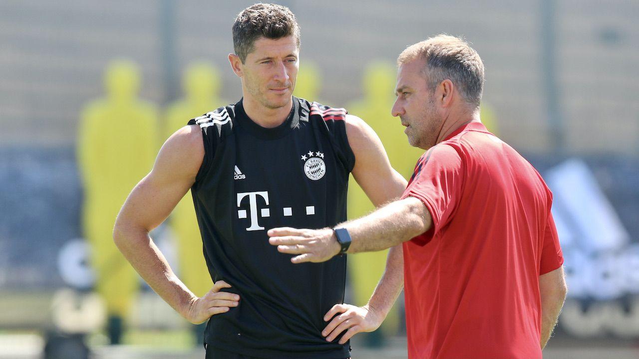 Hansi Flick i Robert Lewandowski doprowadzili Bayern do największych sukcesów od lat (fot. FC Bayern/Handout/Getty Images)