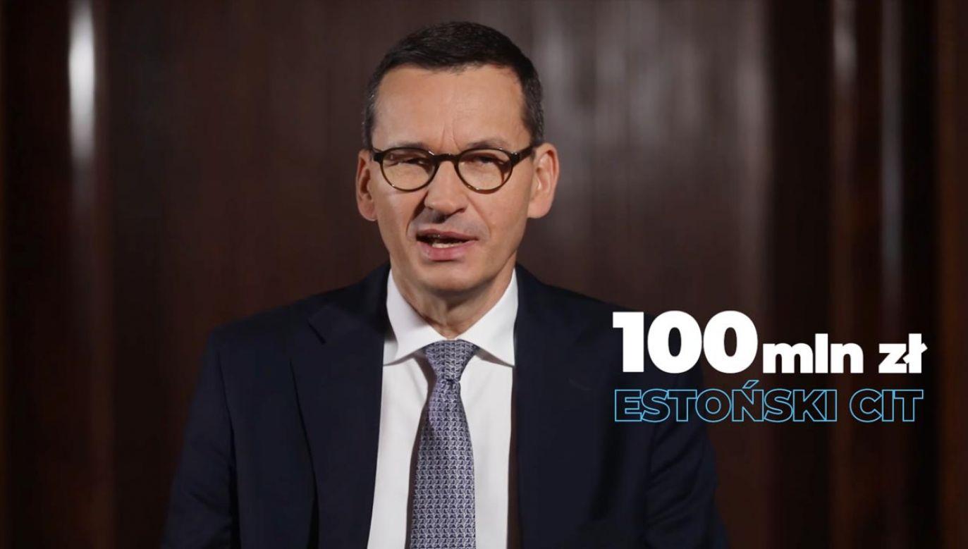 Szef rządu o nowych rozwiązaniach podatkowych (fot. Facebook/Mateusz Morawiecki)