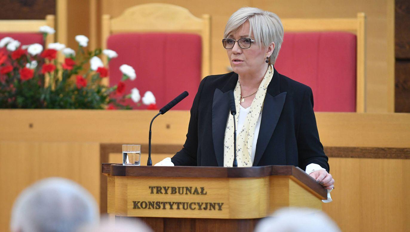 Prezes TK wydała oświadczenie (fot. arch. PAP/Bartłomiej Zborowski)