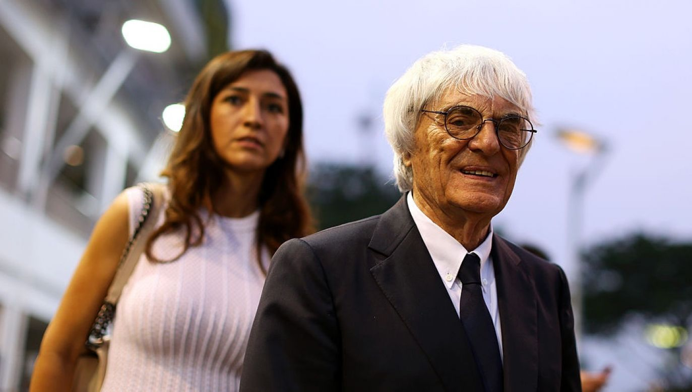 Bernie Ecclestone i jego żona Fabiana Flosi (fot. Clive Mason/Getty Images)