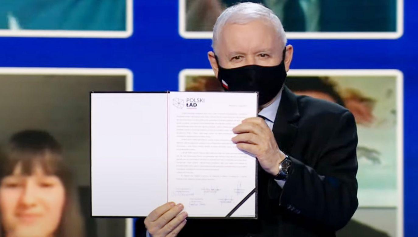 Prezes PiS Jarosław Kaczyński opowiedział o Polskim Ładzie (fot. Prawo i Sprawiedliwość)