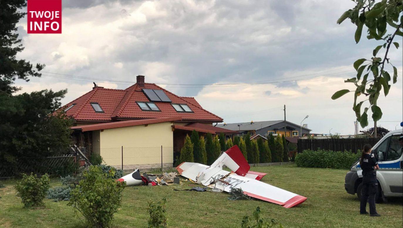 Pilot został ranny (fot. Twoje Info)