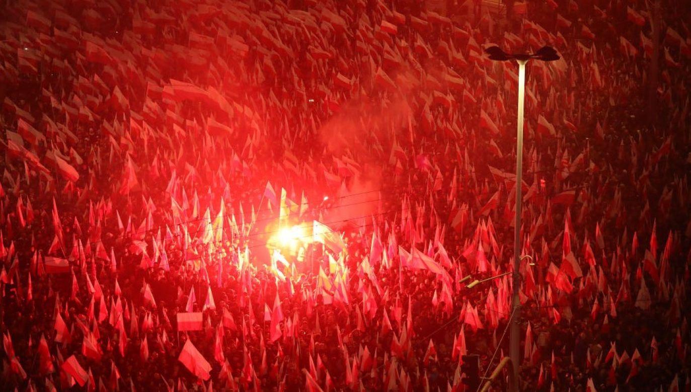 Środowisko Trzaskowskiego wielokrotnie atakowało Marsz Niepodległości (fot.  Sean Gallup/Getty Images)