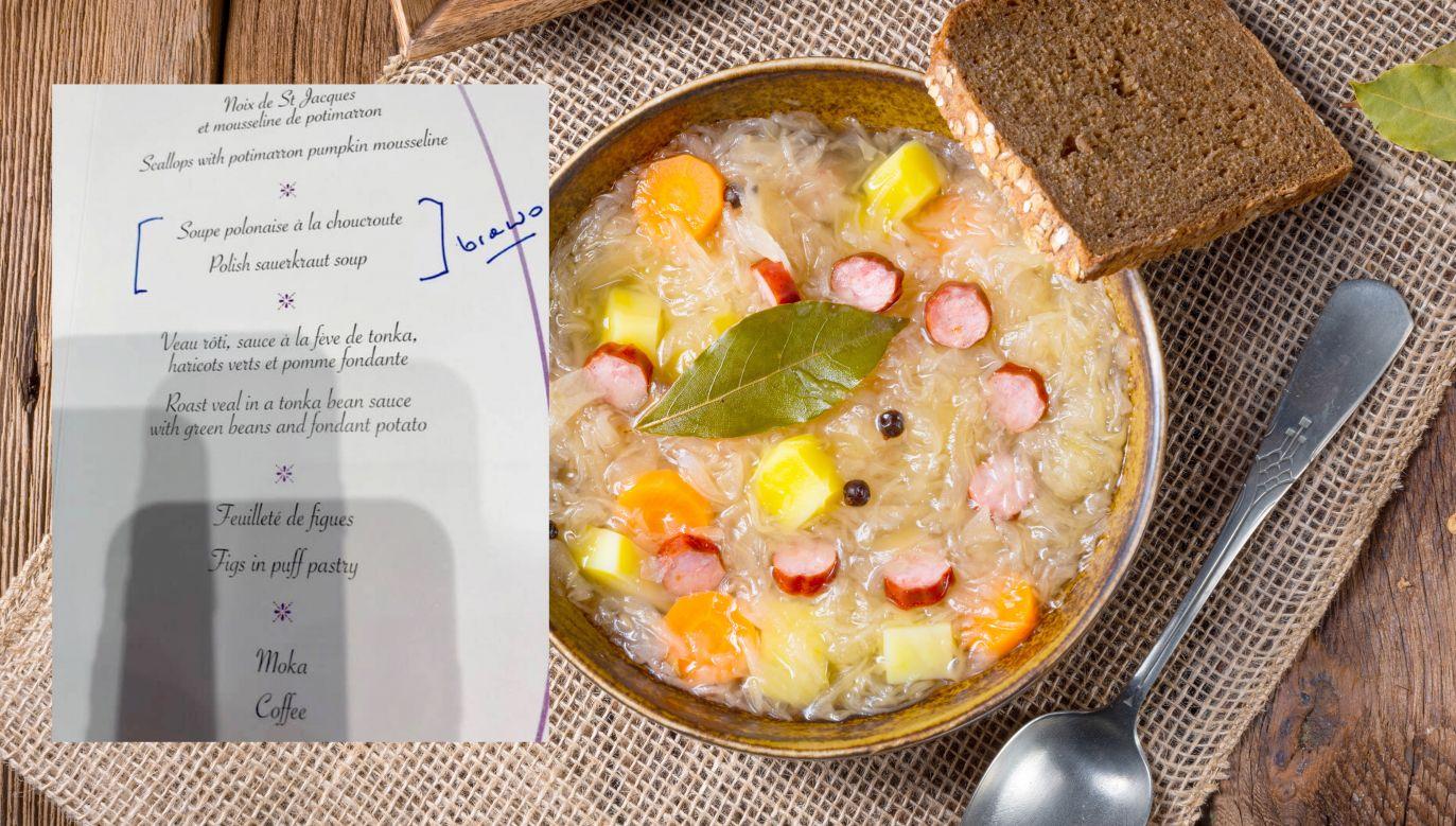 Kapuśniak pojawił się w oficjalnym menu szczytu UE w Brukseli (fot. Shutterstock/FB/Mateusz Morawiecki)