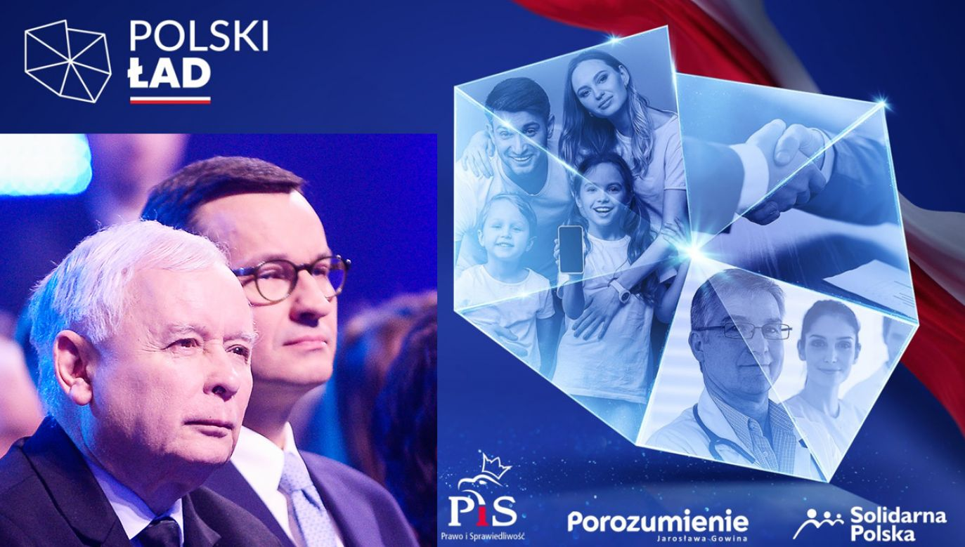 Co znajdzie się w Polskim Ładzie? (fot.TT/Prawo i Sprawiedliwość; Omar Marques/Getty Images)