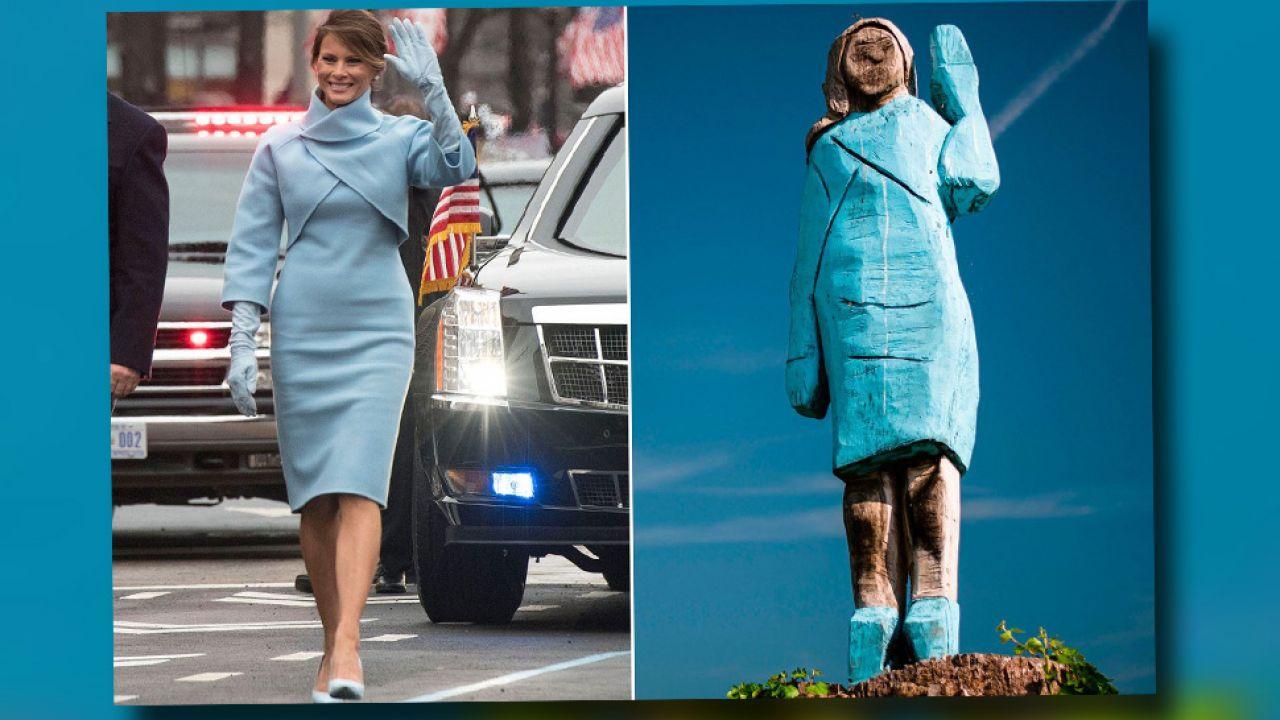 Rzeźbę przedstawiającą Melanię Trump wykonano przy użyciu piły łańcuchowej (fot. TT/New York Post)