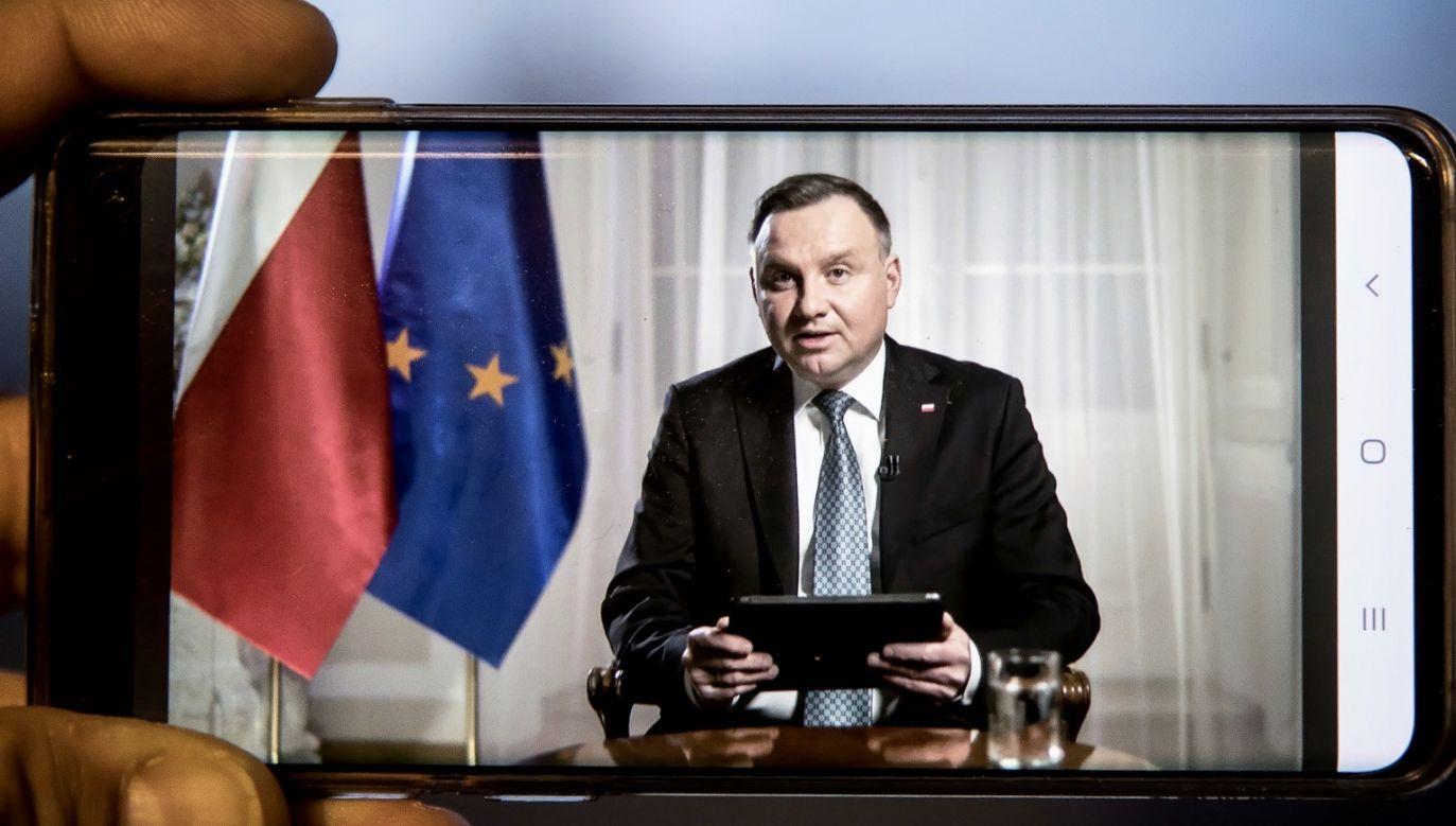 Prezydent Andrzej Duda (fot. PAP/Łukasz Gągulski)