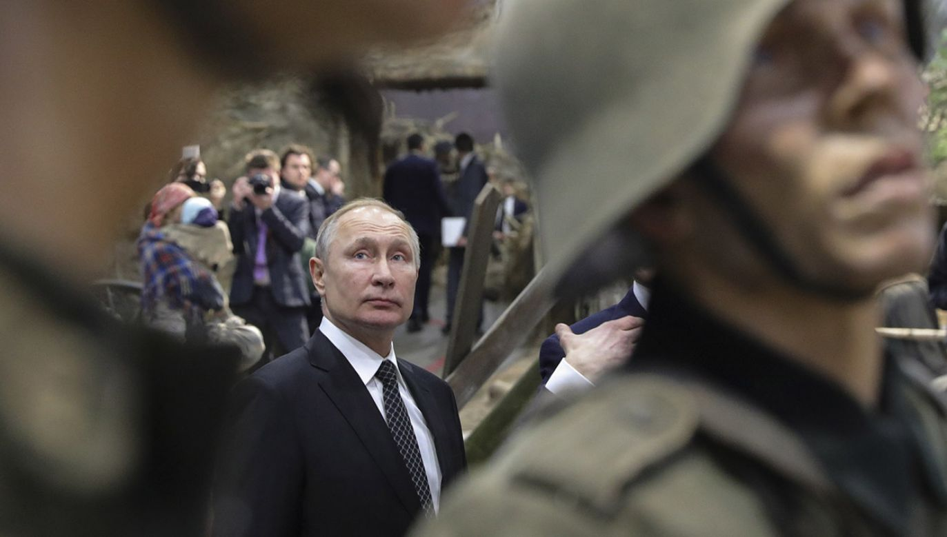 Prezydent Polski o polityce Kremla i zakłamywaniu historii (fot. PAP/EPA/MIKHAEL KLIMENTYEV / SPUTNIK / KREMLIN POOL)