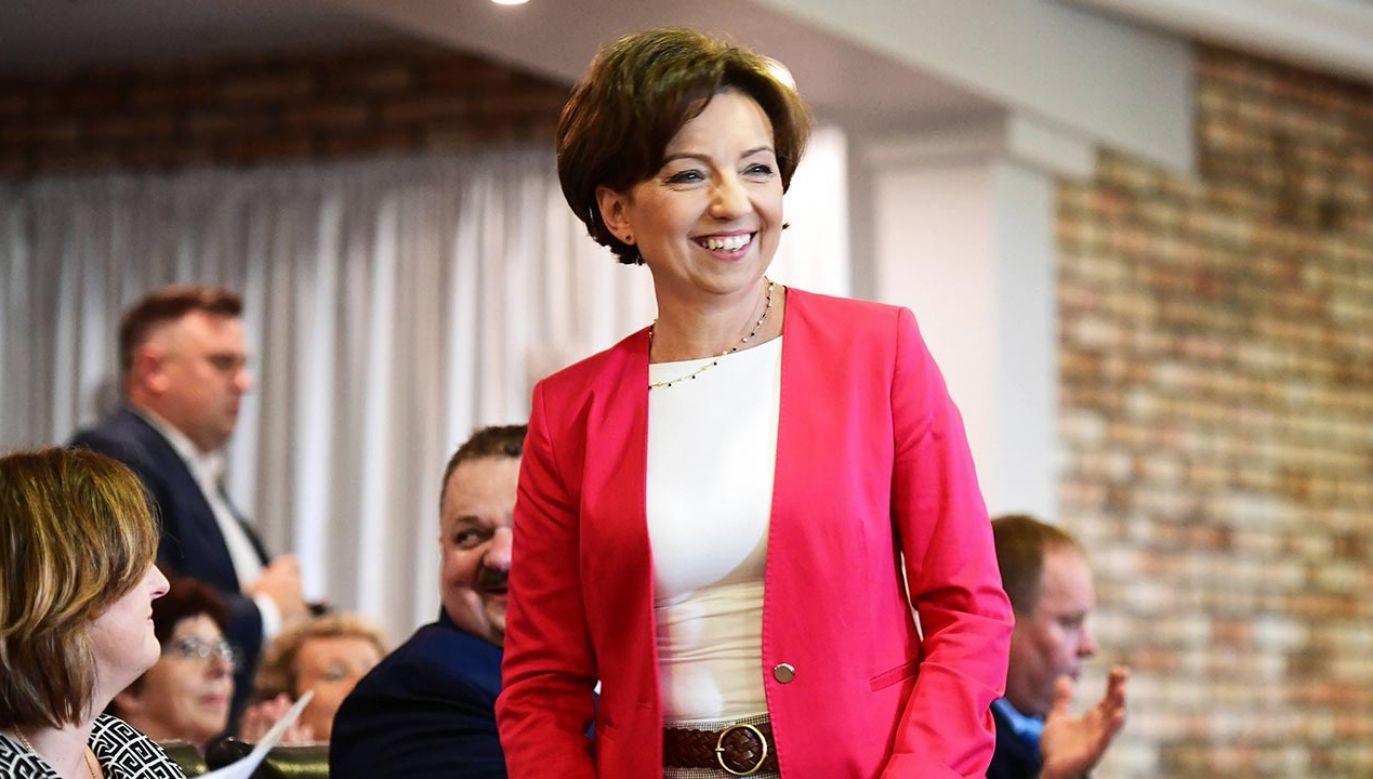 Minister rodziny, pracy i polityki społecznej Marlena Maląg (fot. PAP/Michał Zieliński)