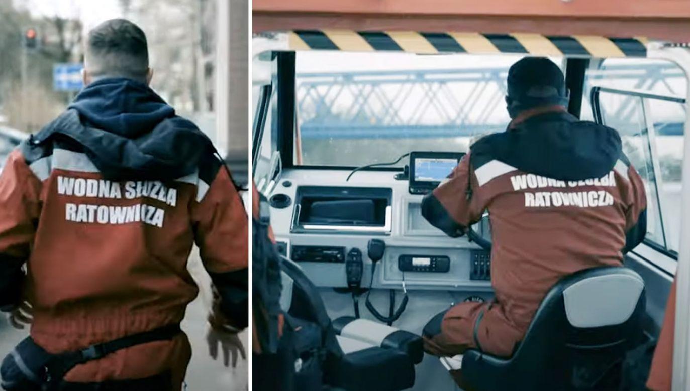 Wodniacy opublikowali w mediach społecznościowych poruszający film (fot. YouTube/ Wodna Służba Ratownicza)