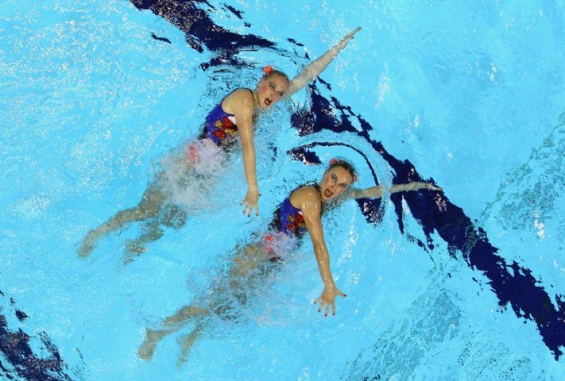Natalia Iszczenko i Swietłana Romaszina - zwycięski duet (fot. Getty Images)