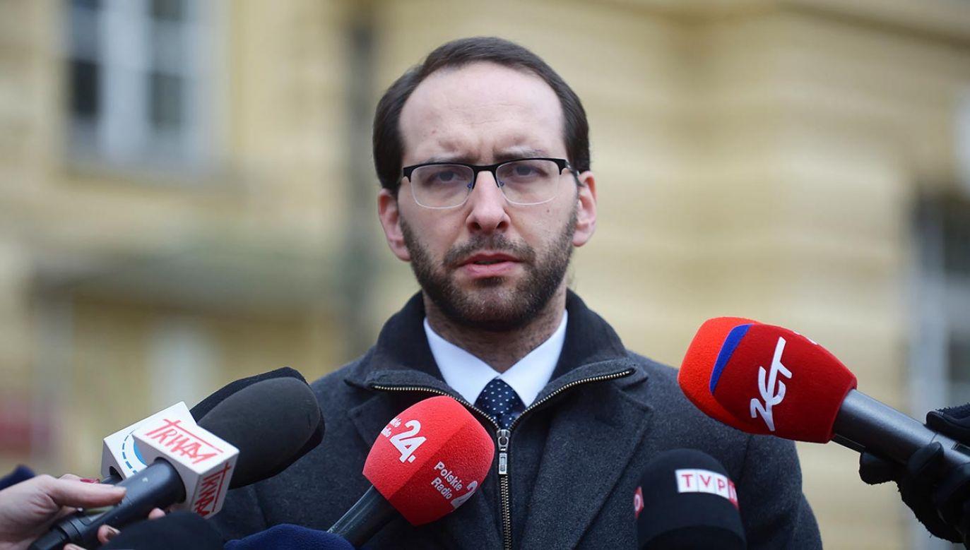 Stanisław Żaryn zabrał głos w sprawie tekstu na rosyjskim portalu (fot. PAP/Marcin Obara)