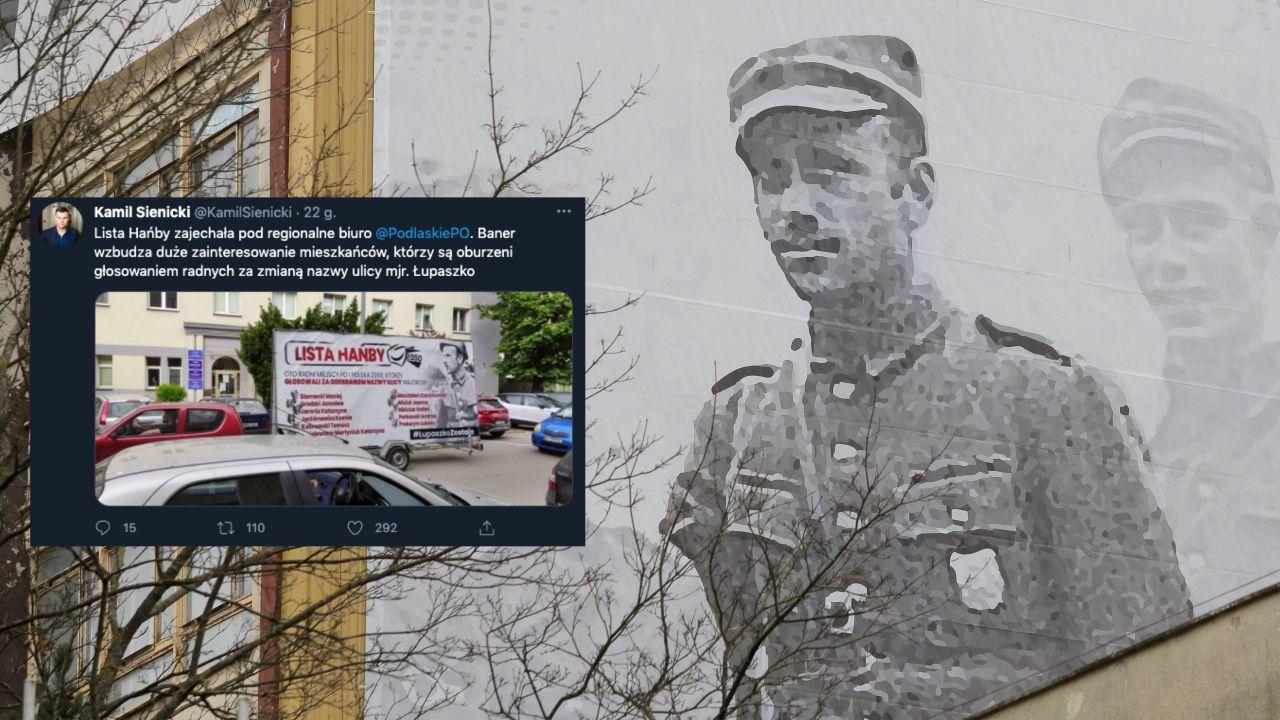 """""""Łupaszko"""" był majorem kawalerii Wojska Polskiego i Armii Krajowej (fot. PAP/Tomasz Waszczuk, Twitter.com/KamilSienicki)"""