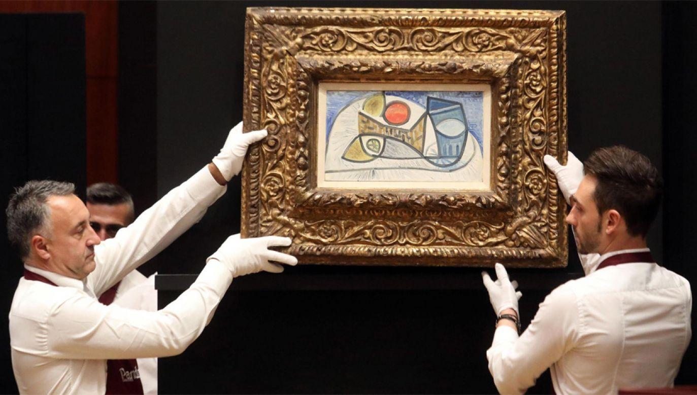 Martwa natura pędzla Pablo Picasso poszła za 2,1 mln euro (fot. PAP/EPA/MATTEO BAZZI)