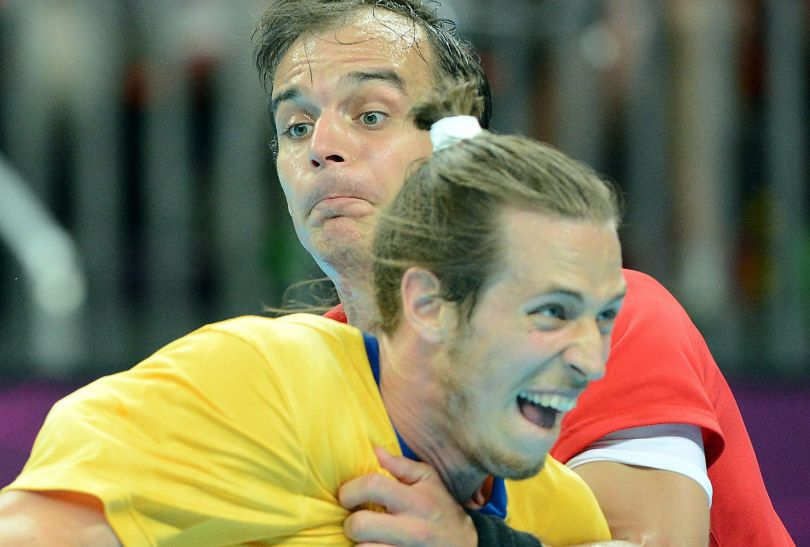 Szwedom w ostatnich minutach udało się odeprzeć atak Węgrów (fot. PAP/EPA)