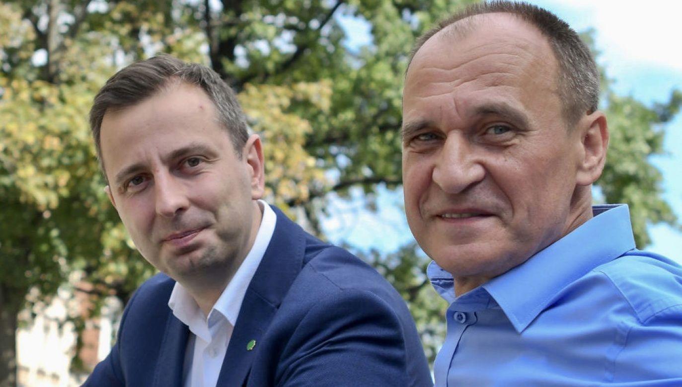 Prezes PSL Władysław Kosiniak-Kamysz i lider Kukiz'15 Paweł Kukiz (fot. Artur Widak/NurPhoto via Getty Images)