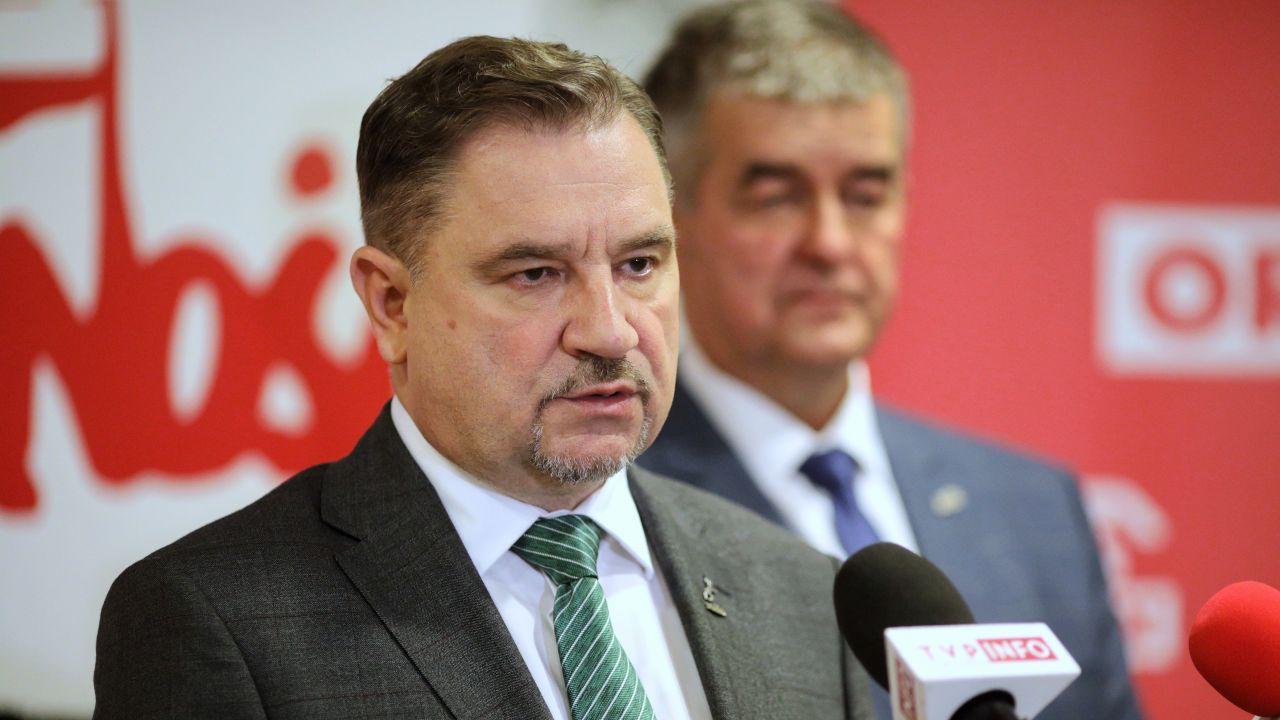 """Kwota wolna od podatku. Przewodniczący NSZZ """"Solidarność"""" Piotr Duda komentuje (fot. PAP/Szymon Łabiński)"""