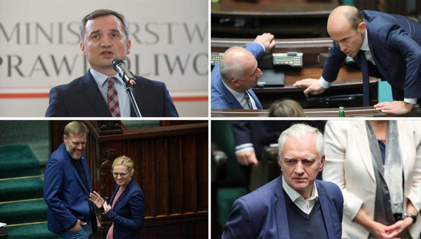 Co dalej ze Zjednoczoną Prawicą? (fot. PAP/Wojciech Olkuśnik, Marcin Obara)