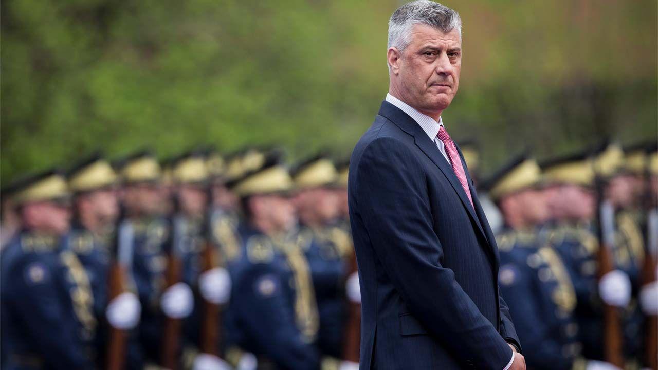 Prezydent Kosowa Hashim Thaci był dowódcą Armii Wyzwolenia Kosowa (fot. PAP/EPA/VALDRIN XHEMAJ)
