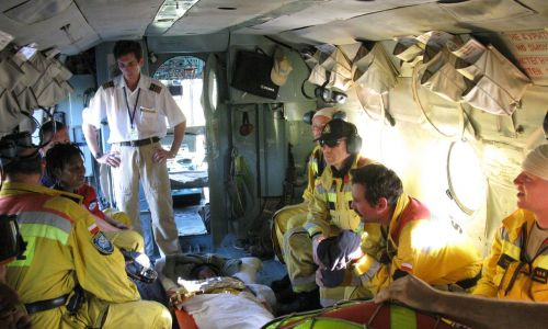 Na Haiti Polacy udzielili wsparcia medycznego w szpitalu polowym w miejscowości Petit-Goave. Zawaliła się tam miejscowa lecznica i mieli dużo ofiar. Fot. zbiór prywatny Krzysztofa Grucy