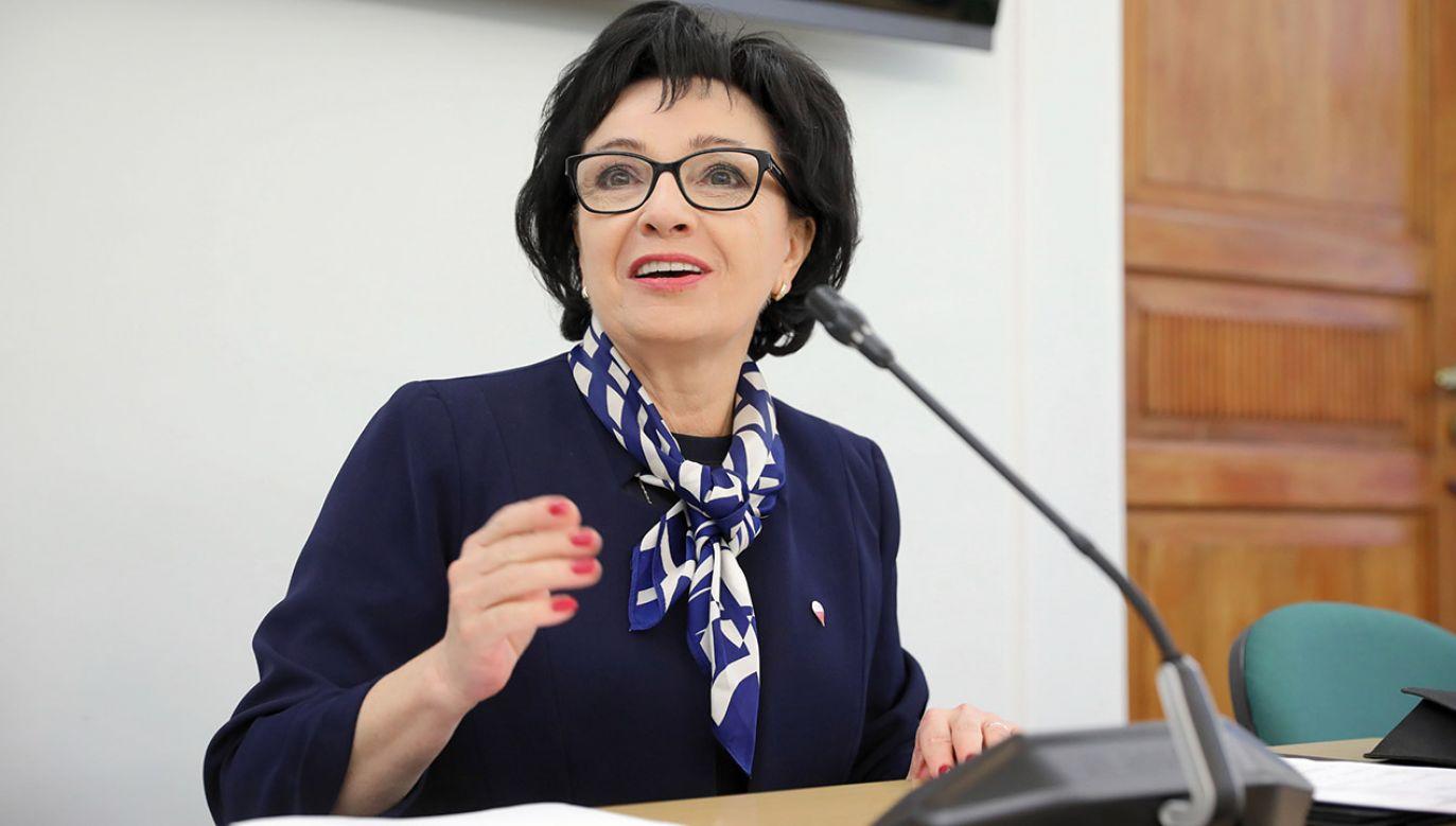 Elżbieta Witek, marszałek Sejmu VIII i IX kadencji (fot. PAP/Leszek Szymański)