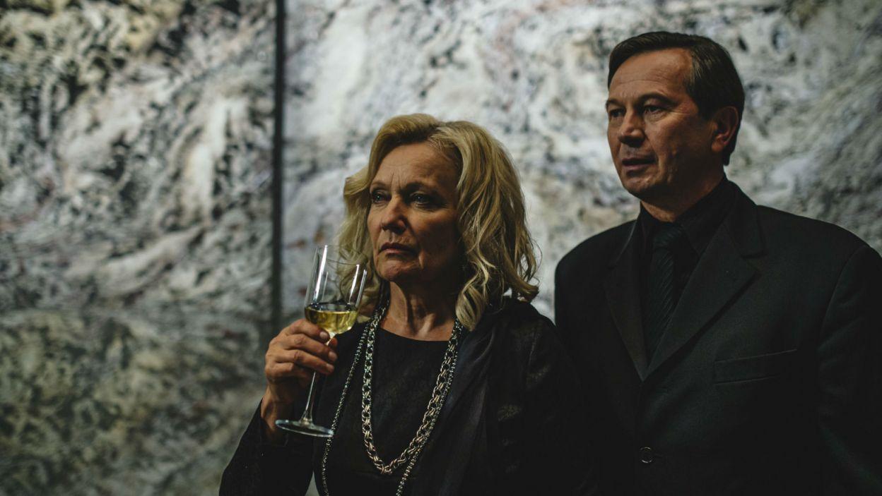 Matkę Hamleta zagrała Maria Pakulnis, a stryja Klaudiusza – Piotr Cyrwus (fot. Stanisław Loba)
