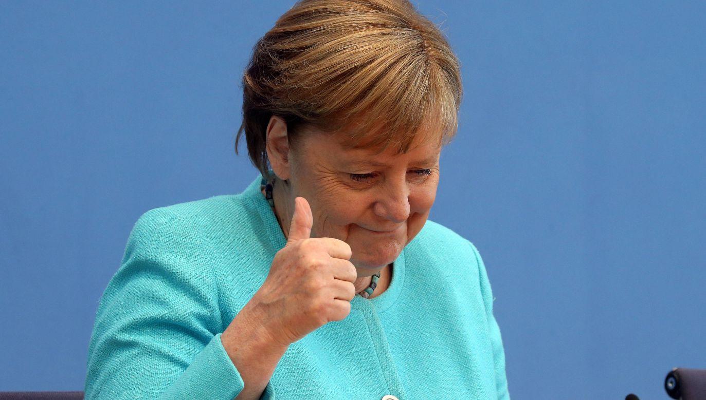 Nord Stream 2. Kanclerz Angela Merkel (fot. Wolfgang Kumm/dpa, PAP/DPA)