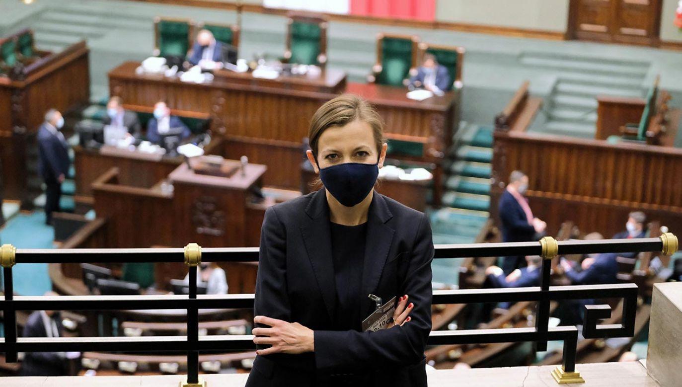 Jedyną kandydatką była mec. Zuzanna Rudzińska-Bluszcz (fot. PAP/Mateusz Marek)