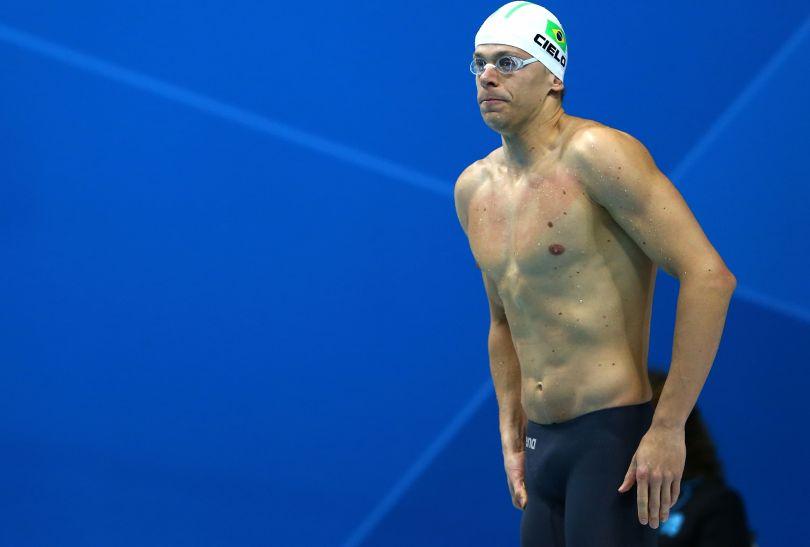 Cesar Cielo zdobył brązowy medal na 50 metrów stylem dowolnym (fot. Getty Images)