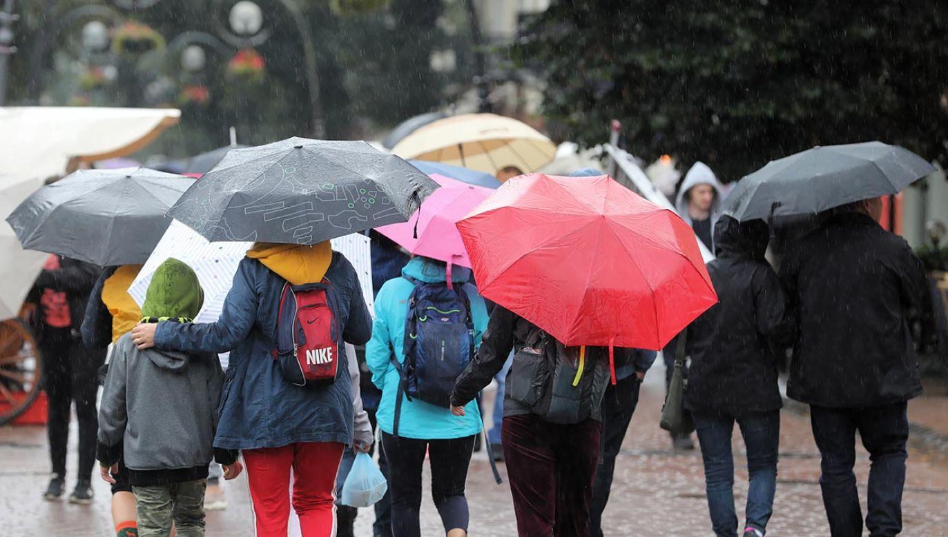 Intensywne opady deszczu pojawią się w 10 województwach (fot. PAP/Grzegorz Momot)