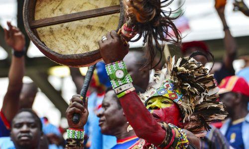 Kongijczyk podczas Pucharu Narodów Afryki  2015 w Gwinei Równikowej. Fot. PAP / EPA