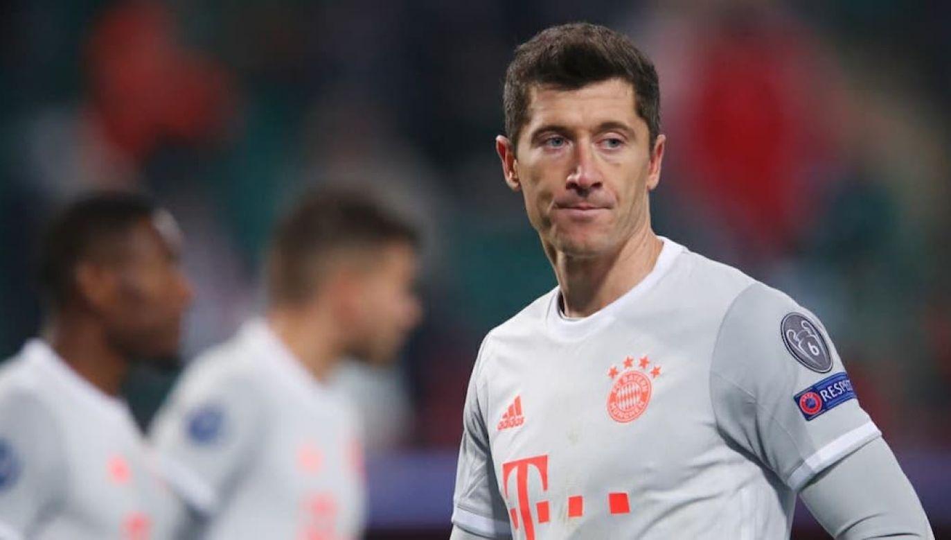 Robert Lewandowski nie zagra w sobotnim meczu Bundesligi (fot. PAP/EPA/Maxim Shemetov)