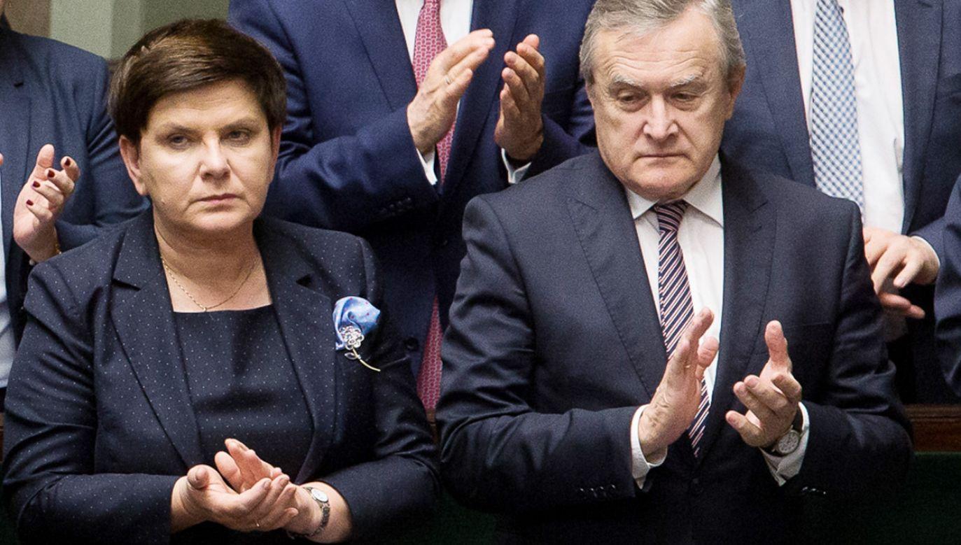 Piotr Gliński zabrał głos ws. Beaty Szydło (fot. Mateusz Wlodarczyk/NurPhoto via Getty Images)