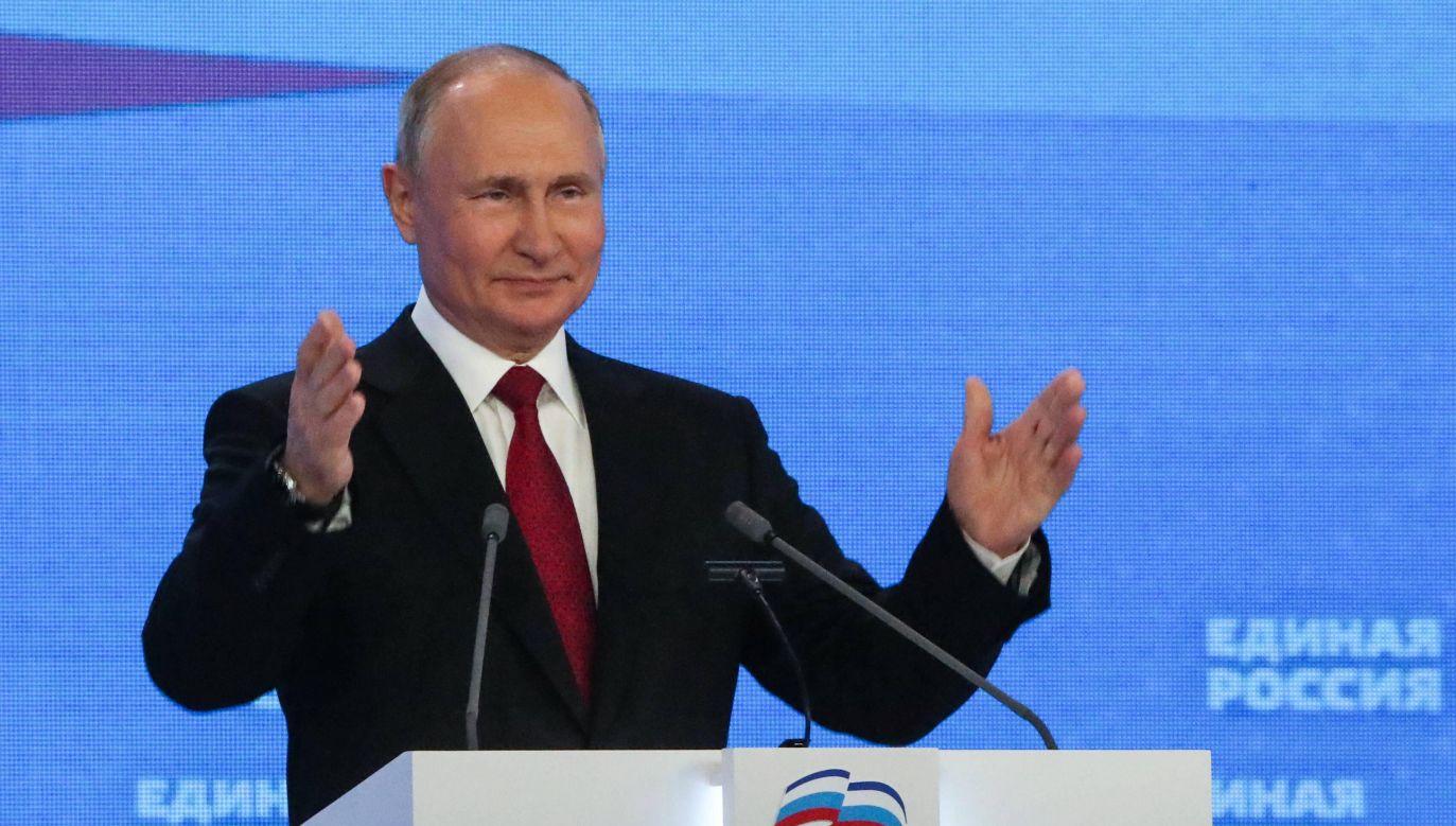 Nord Stream 2. Władimir Putin (fot. Grigory Sysoyev/POOL/TASS, PAP/ITAR-TASS)