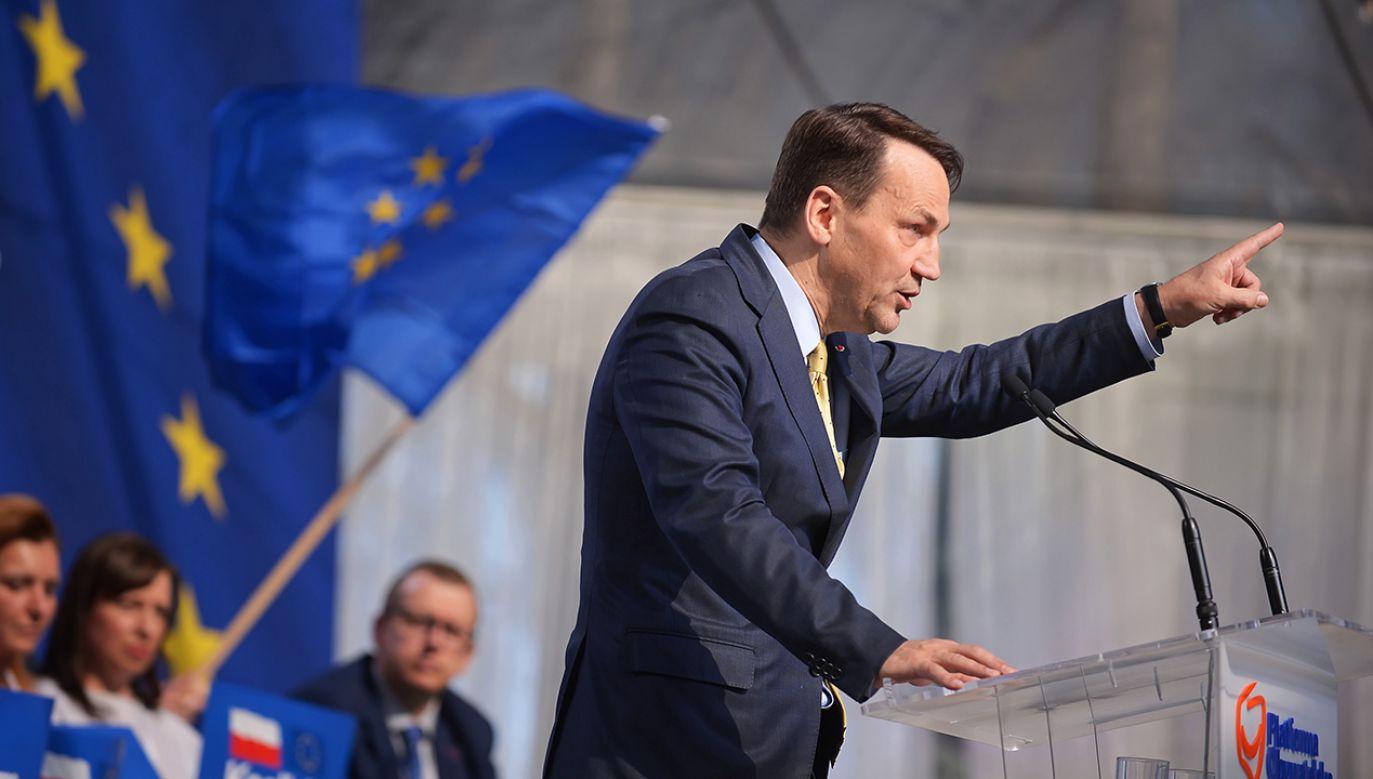Były szef MSZ Radosław Sikorski (fot. arch. PAP/Marcin Obara)