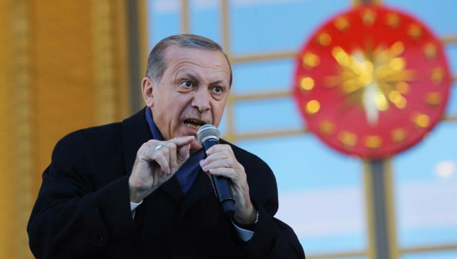Recep Tayyip Erdogan odwrócił się od demokracji (fot. Elif Sogut/Getty Images)