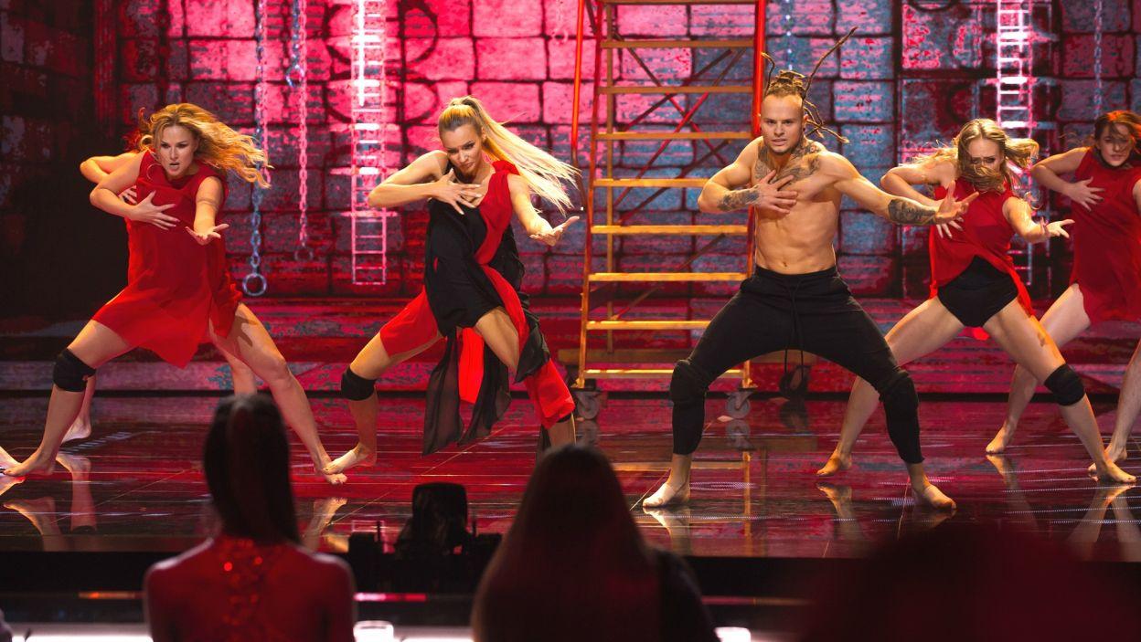 Mateusz i Pamela wystąpili w choreografii, w której musieli połączyć drapieżność z luzem (fot. TVP)