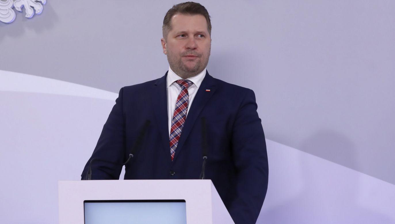 Przemysław Czarnek, the  Education and Science Minister. Photo: PAP/Tomasz Gzell