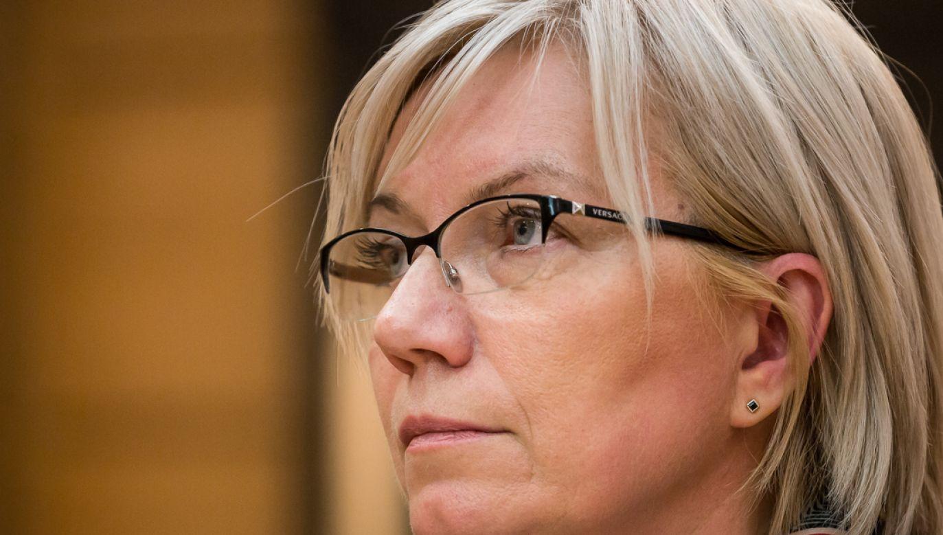 Julia Przyłębska komentuje wyrok ws. Xero Flor (fot. Mateusz Wlodarczyk/NurPhoto via Getty Images)