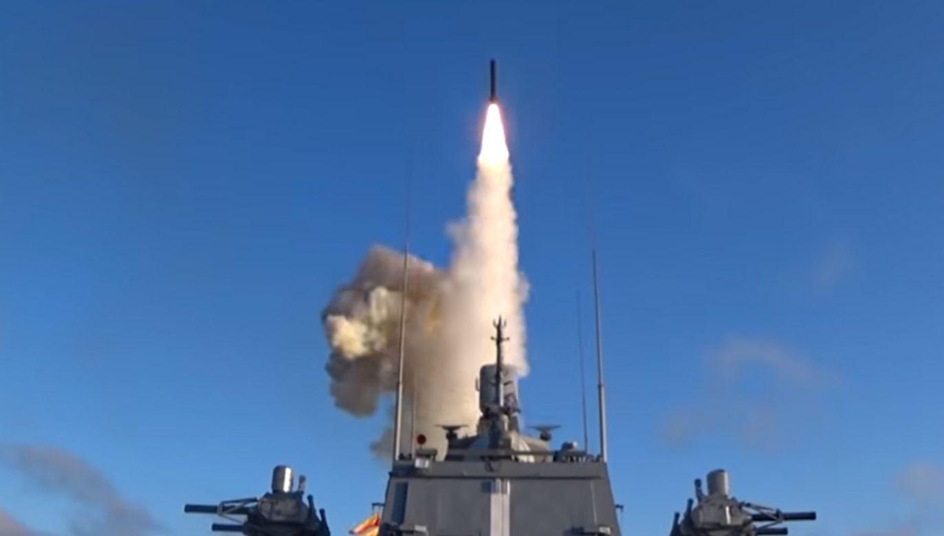 Pocisk został wystrzelony z fregaty Admirał Gorszkow z Morza Barentsa (zdjęcie ilustracyjne) (fot. YT/Ministerstwo Obrony FR)