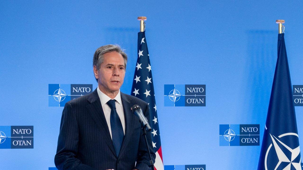 Sekretarz Stanu USA Anthony Blinken w Brukseli (fot. NATO / Pool/Anadolu Agency via Getty Images)