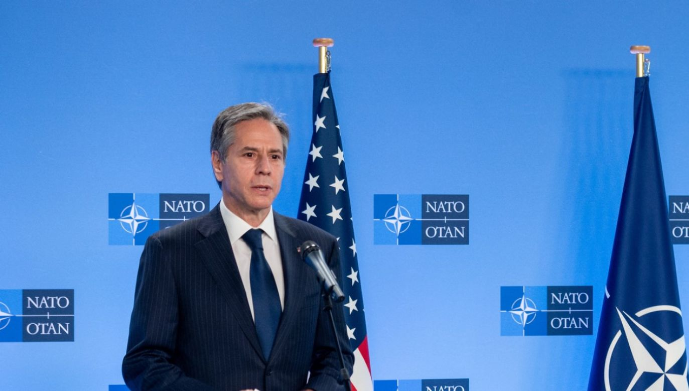Sekretarz Stanu USA Anthony Blinken w Brukseli (fot. NATO / Pool/Anadolu Agency via Getty Images)